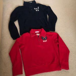 Abercrombie kids boys set of 2 sweatshirts. Size L